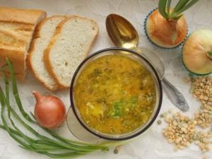 постный гороховый суп фото
