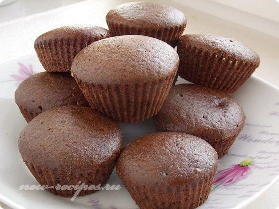постные кексы с какао