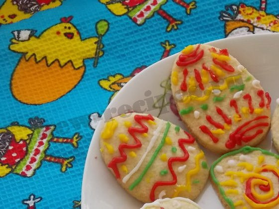 простое и красивое пасхальное печенье