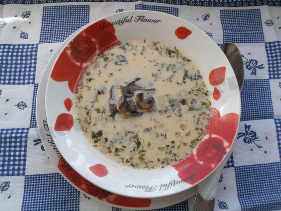сырно-грибной суп рецепт