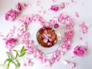 чай с чайными розами