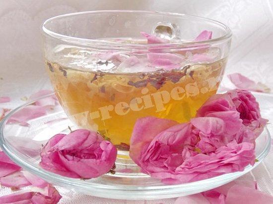 рецепт чая с чайной розой