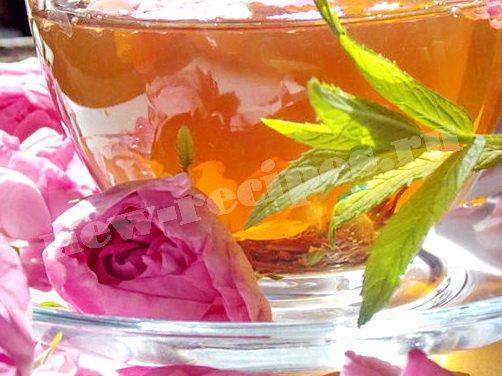 чай с чайной розой