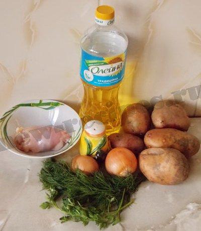 ингредиенты для драников с курицей