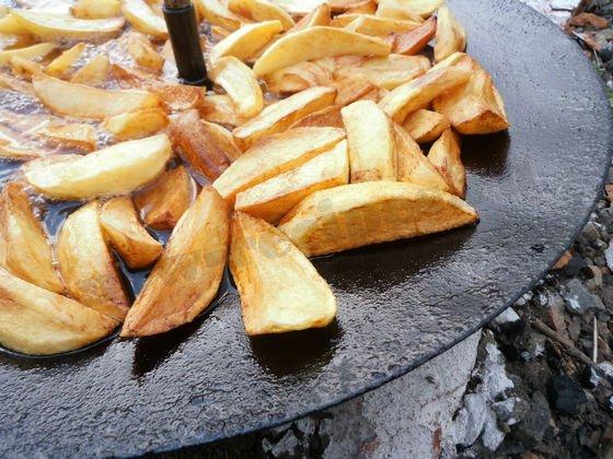 как пожарить картошку на диске от тракторного плуга