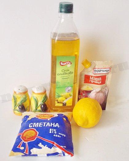 ингредиенты для салатной заправки вместо майонеза