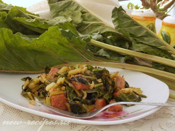 Что можно приготовить из мангольда: блюда из листовой