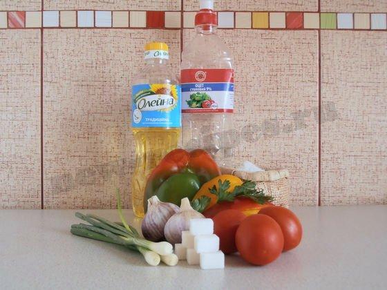ингредиенты для лечо из болгарского перца