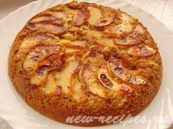 перевёрнутый айвовый пирог