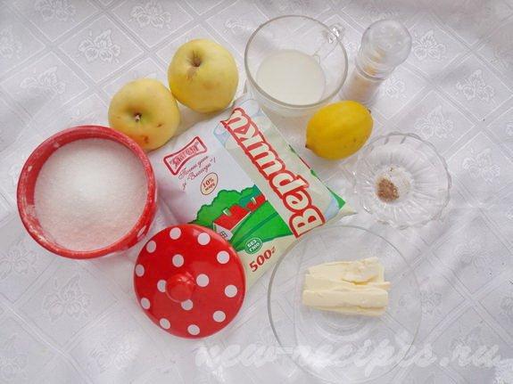 ингредиенты для яблочно-сливочного супа
