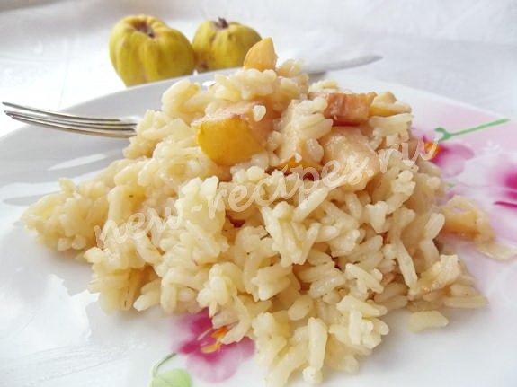 рецепт из айвы с рисом