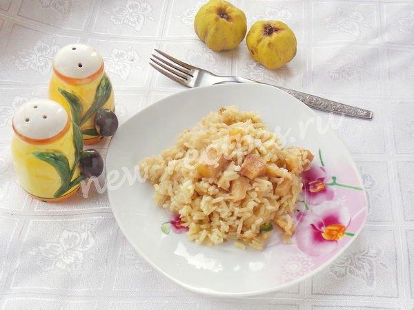 гарнир из риса с айвой