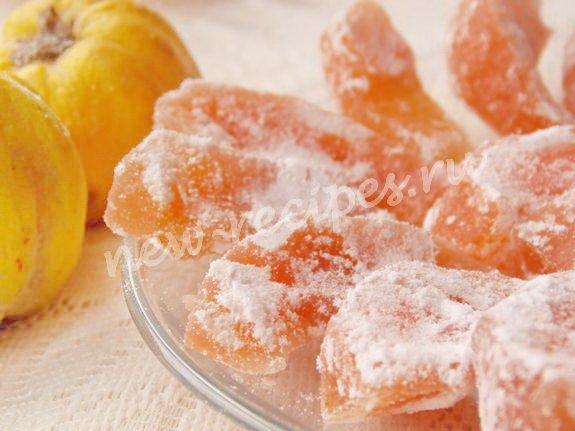 вкусные айвовые цукаты домашнего приготовления