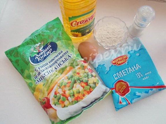 ингредиенты для овощных котлет