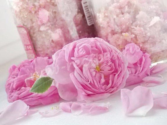 припас из чайных роз с сахаром