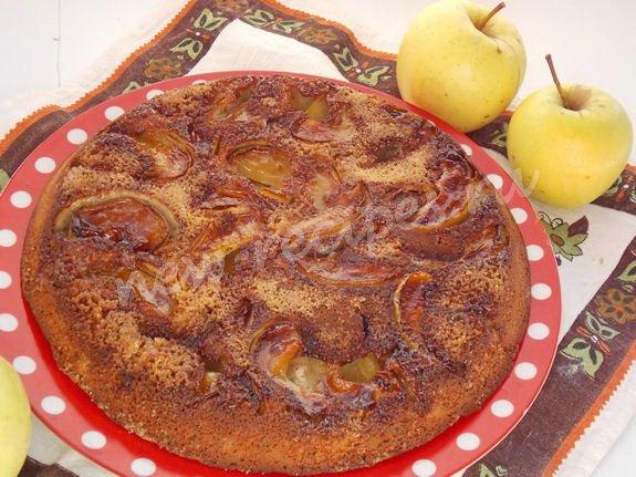 перевёрнутый яблочный пирог с карамелью