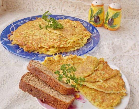 быстрый завтрак из картошки с яйцом