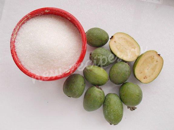 ингредиенты для фейхоа с сахаром