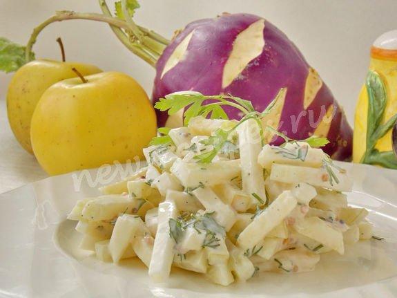простой салат из кольраби