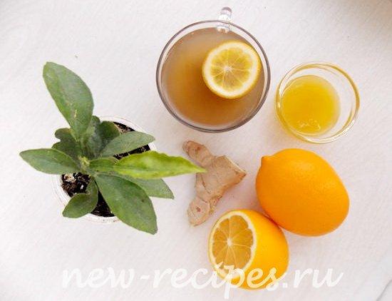 бодрящий имбирный чай