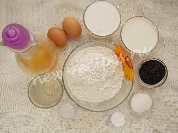 ингредиенты для блинчиков с маком