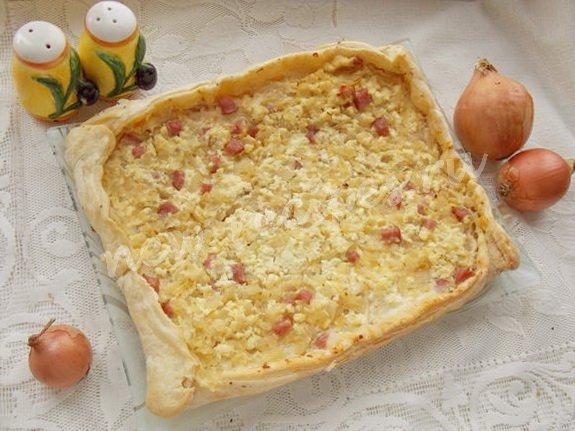 как приготовить пирог с луком