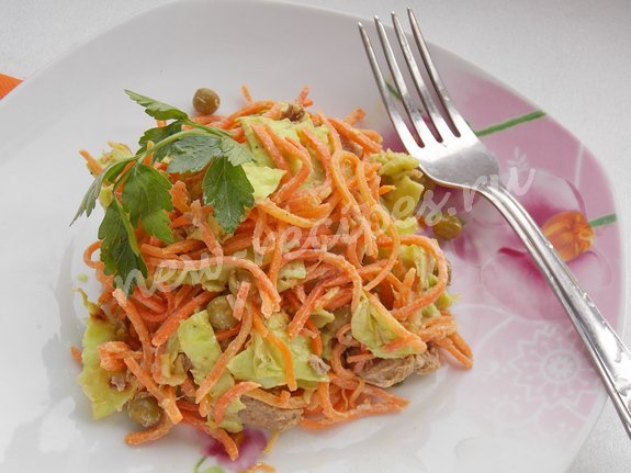 рецепт салата с языком и морковкой по корейски