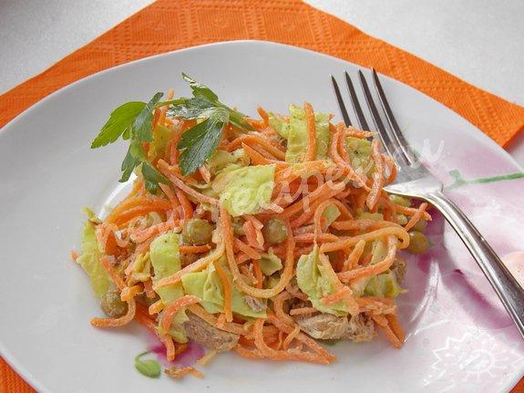 морковный салат с лавашом