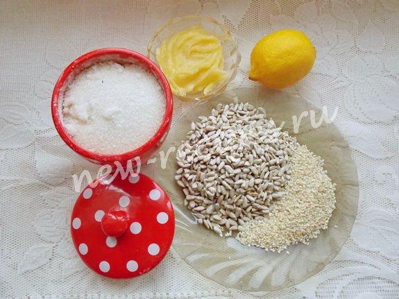 ингредиенты для козинаков