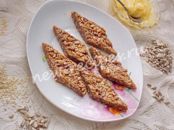 рецепт козинаков из семечек и кунжута