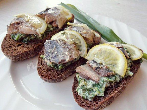 Бутерброды с сардинами рецепты