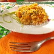 чечевица с тыквой и шпинатом