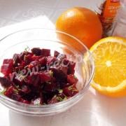 салат из буряка с апельсиновым соком