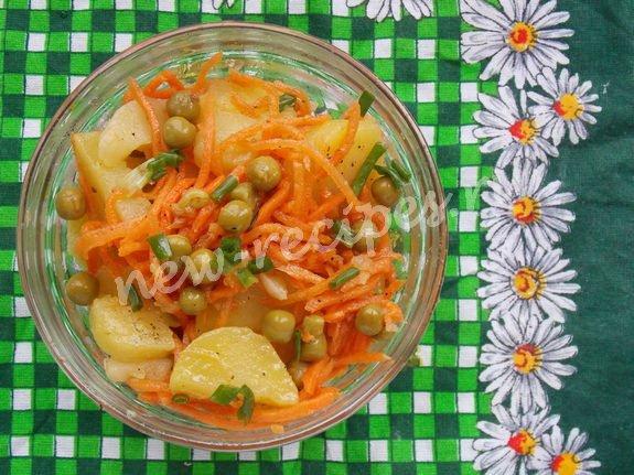 постный салат с корейской морковкой