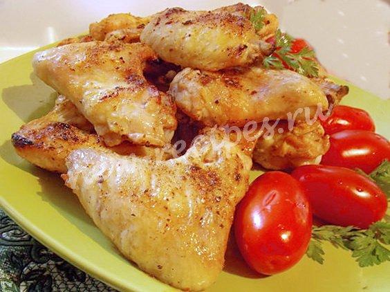 рецепт крылышек на сковороде гриль