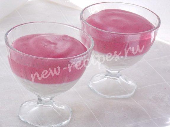 ягодный мусс со сметаной