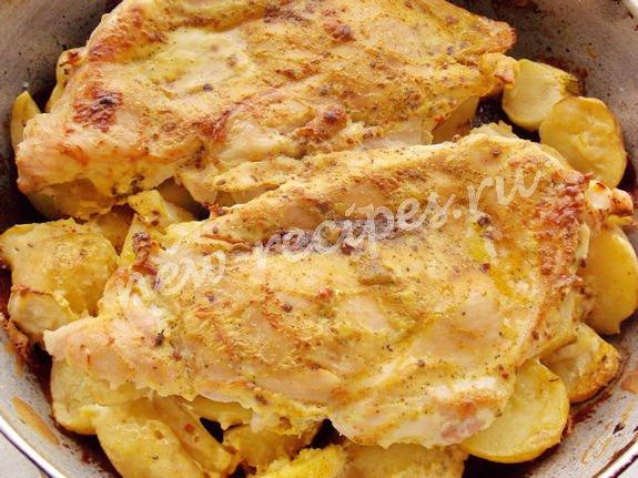 запекаем в духовке кабачки с молодой картошкой