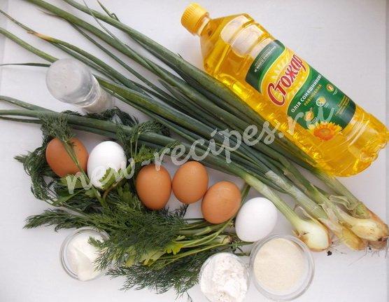 ингредиенты для котлет из яиц и лука