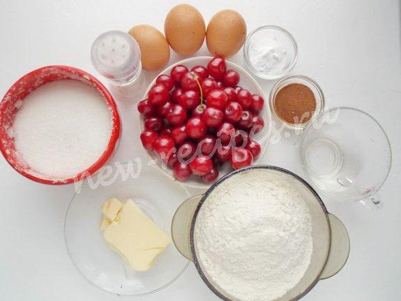 ингредиенты для кексов с вишней и цикорием