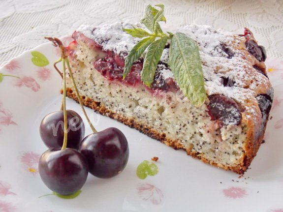 Вкусный сдобный пирог с вишней рецепт