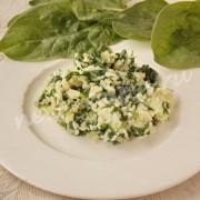 рецепт риса со шпинатом