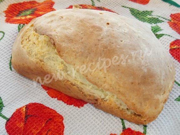 Хлеб без дрожжей без кефира в мультиварке рецепты пошагово 3