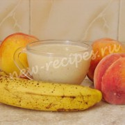 смузи персик банан