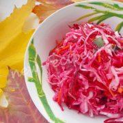 салат из квашеной капусты с буряком и имбирем