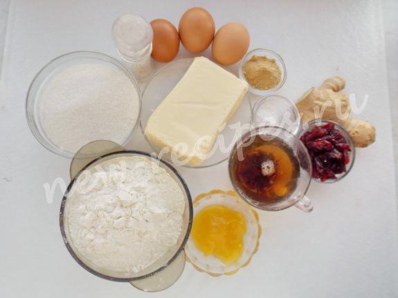 ингредиенты для имбирного кекса