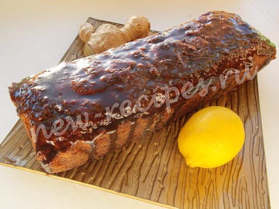 рецепт имбирного кекса