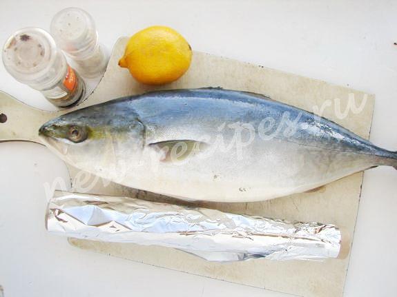 ингредиенты для приготовления тунца с лимоном