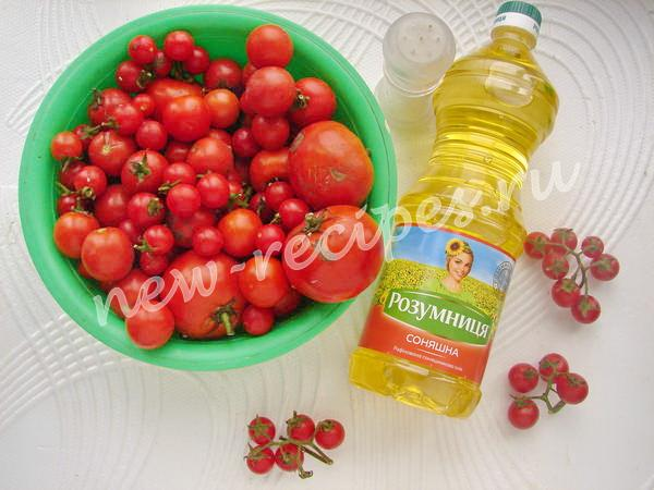 ингредиенты для консервирования томатов