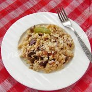 рис с куриной печёнкой и шампиньонами
