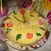 новогодний вафельный торт мимоза